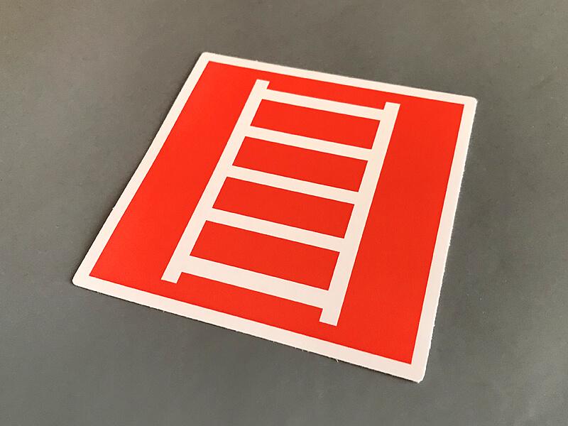 Наклейка пожарная лестница F03