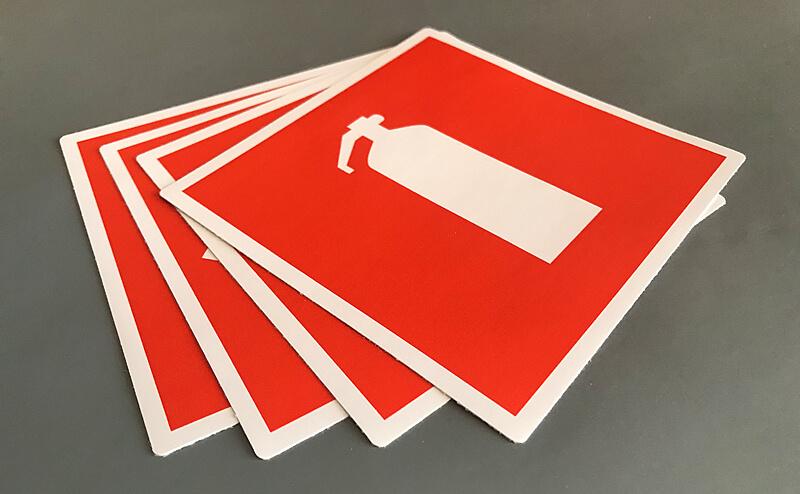 Наклейка пожарной безопасности