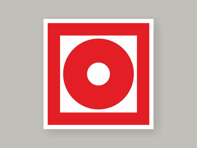 Табличка кнопка включения установок пожарной автоматики F10