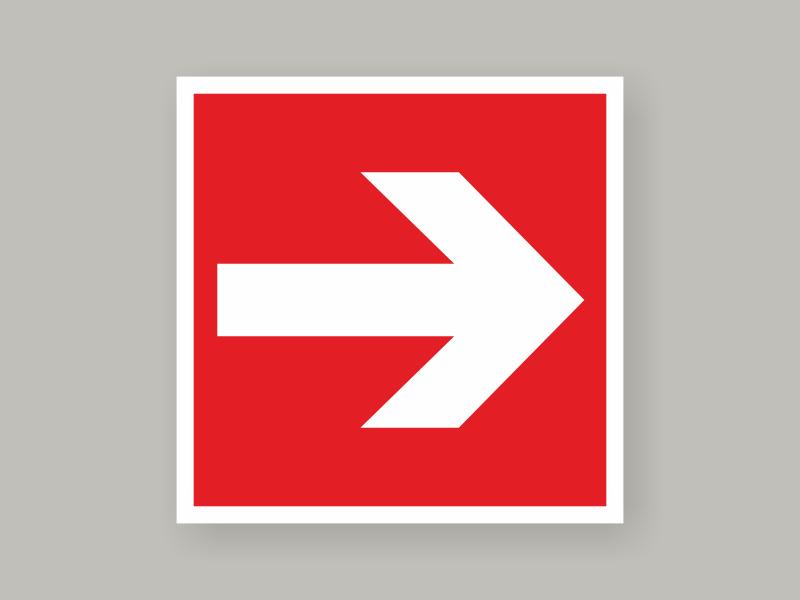 Табличка направляющая стрелка F 01-01
