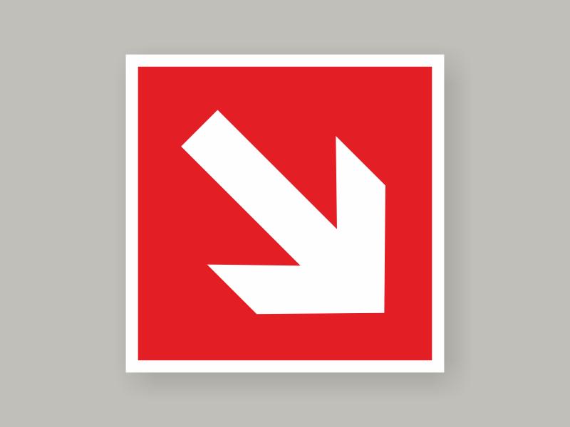 Табличка направляющая стрелка под углом 45° F 01-02