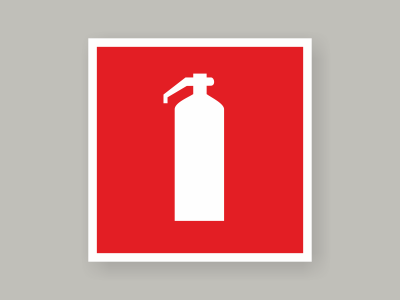 Табличка огнетушитель F04