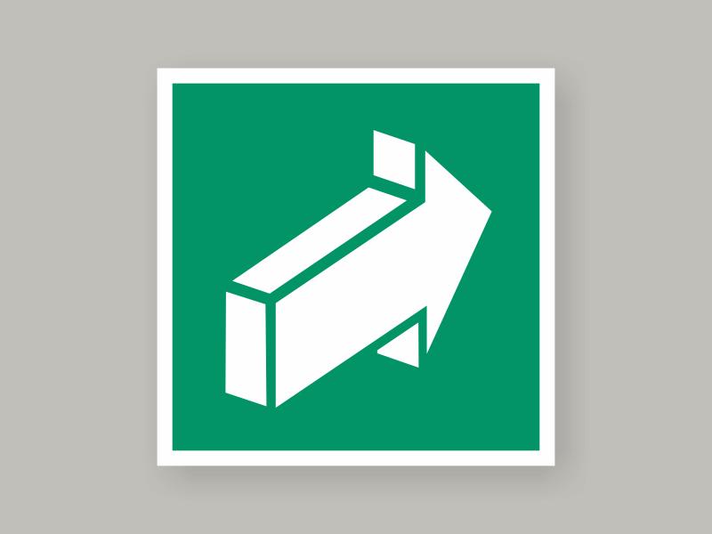 Табличка открывать движением от себя Е18