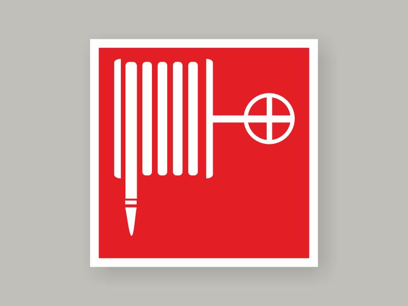 Табличка пожарный кран F02