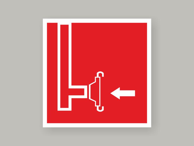 Табличка пожарный сухотрубный стояк F08