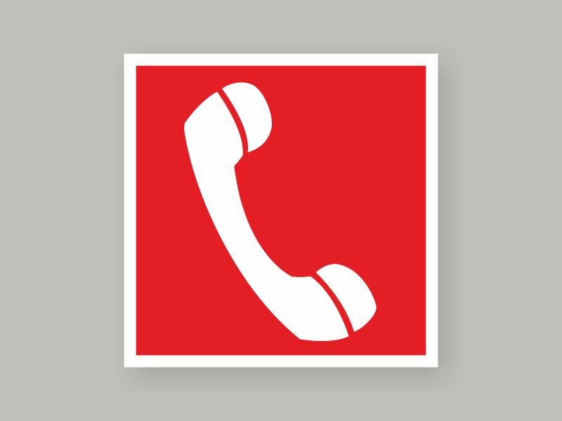 Табличка телефон для использования при пожаре F05
